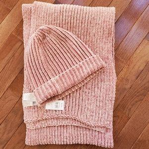 LOFT chenille scarf and beanie
